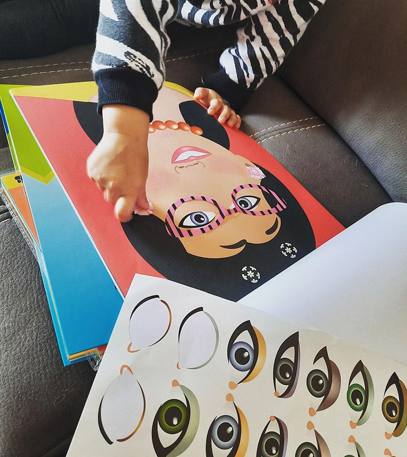 אלבום מדבקות של מליסה ודאג- פנים