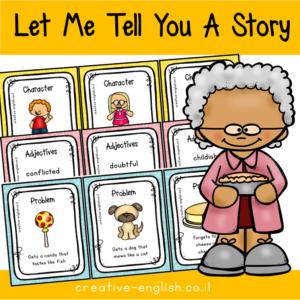 כרטיסיות לכתיבת סיפור