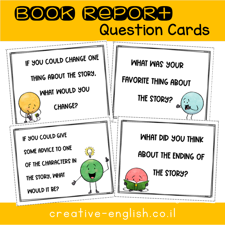 Book Report Question Cards
